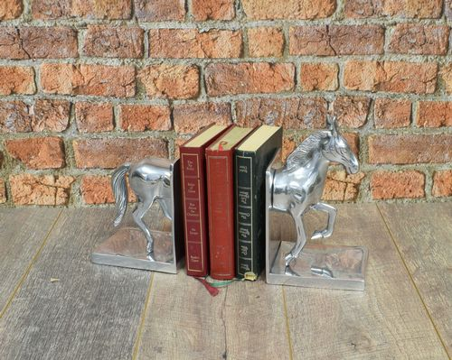 Aluminium Horse Bookends